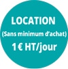 Location 1€HT/jour