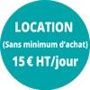 Location 15€HT/jour