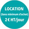 Location (Sans minimum d'achat) 2€ht / jour