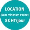 Location 8€HT/jour
